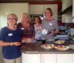 Just a few of the willing helpers at the over 70s Garden Party.
